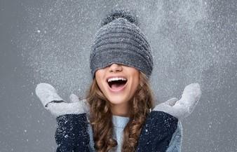 cuidado de cabello en la nieve